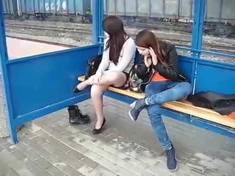 Two girls spits loogies in her face - 1 4