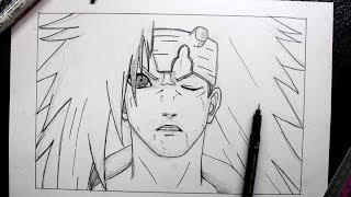 how to draw Madara (sketching) - Naruto Fan Art