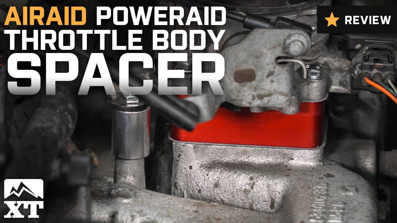 Jeep Wrangler Airaid PowerAid Throttle Body Spacer 1991 2006 40L