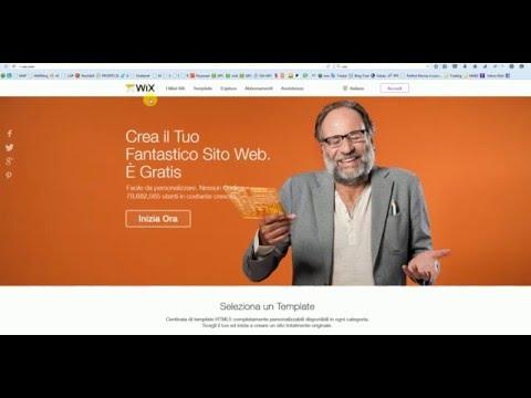 Creare un sito con Wix