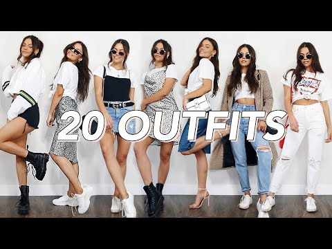 20 ways to style a WHITE T-SHIRT | spring outfit ideas 2