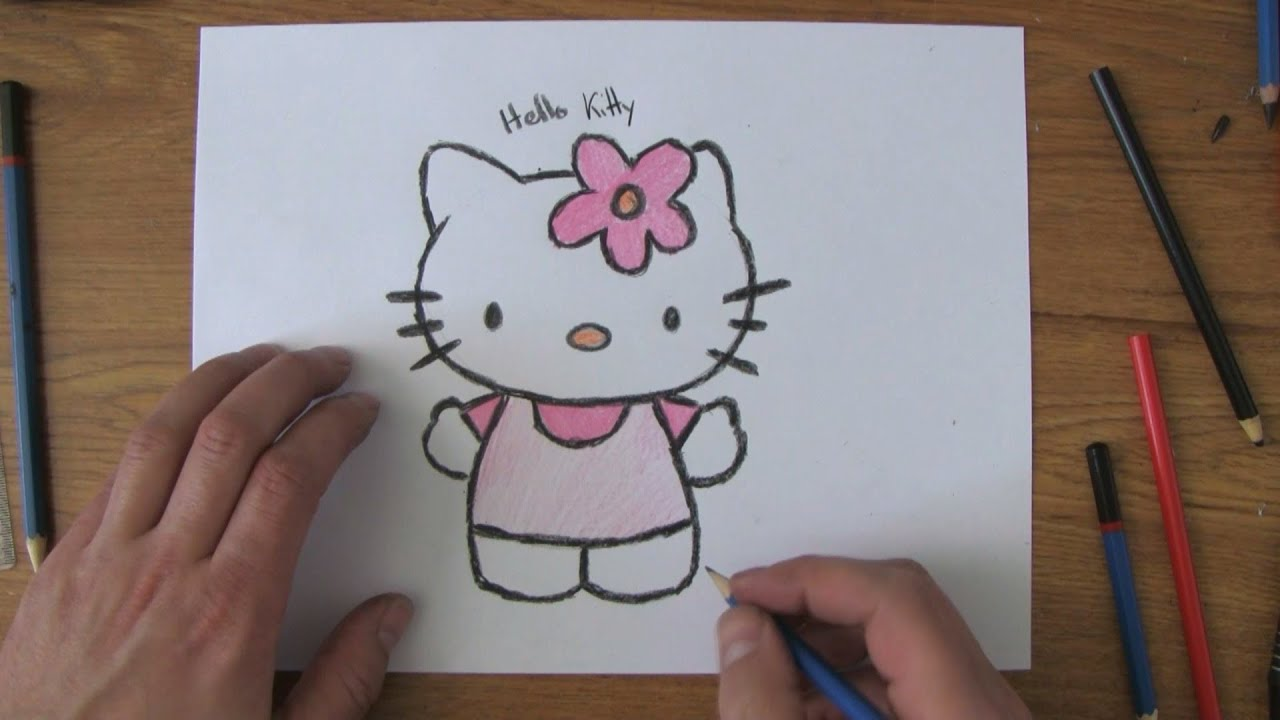 Uncategorized Videos Of Drawing how to draw hello kitty youtube