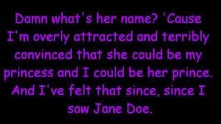 NeverShoutNever- Jane Doe Lyrics
