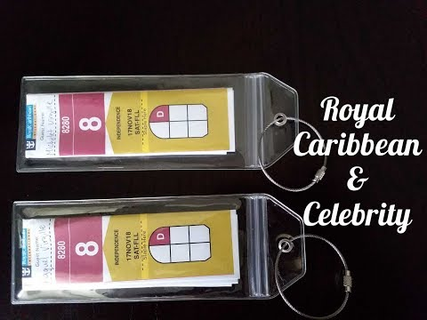 Royal Caribbean Luggage Tag Holders