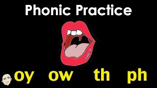 Phonic Practice | oy ow th ph | Easy Pronunciation Practice | ESL/EFL