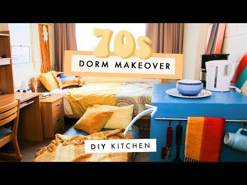 a groovy 70s dorm makeover!