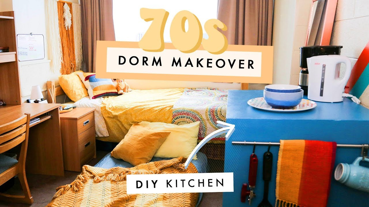 A Groovy 70s Dorm Makeover Youtube