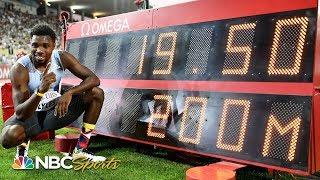 Noah Lyles Runs Fastest 200 Since Usain Bolt in 2012 at Diamond League Lausanne | NBC Sports