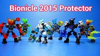 Lego Bionicle 2015 All Protector (70778-70783) Time lapse Build 레고 바이오니클 수호자 전제품.