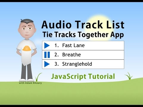 Audio Playlist Play Buttons JavaScript Programming Tutorial