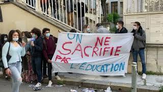 Avignon : les lycéens tentent de bloquer le lycée Aubanel