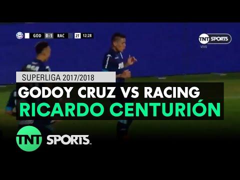 Ricardo Centurión (0-1) Godoy Cruz vs Racing | Fecha 17 - Superliga Argentina 2017/2018