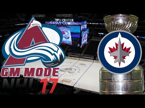 Playoffs Round ONE Winnipeg - NHL 17 - GM Mode Commentary - Colorado ep. 28