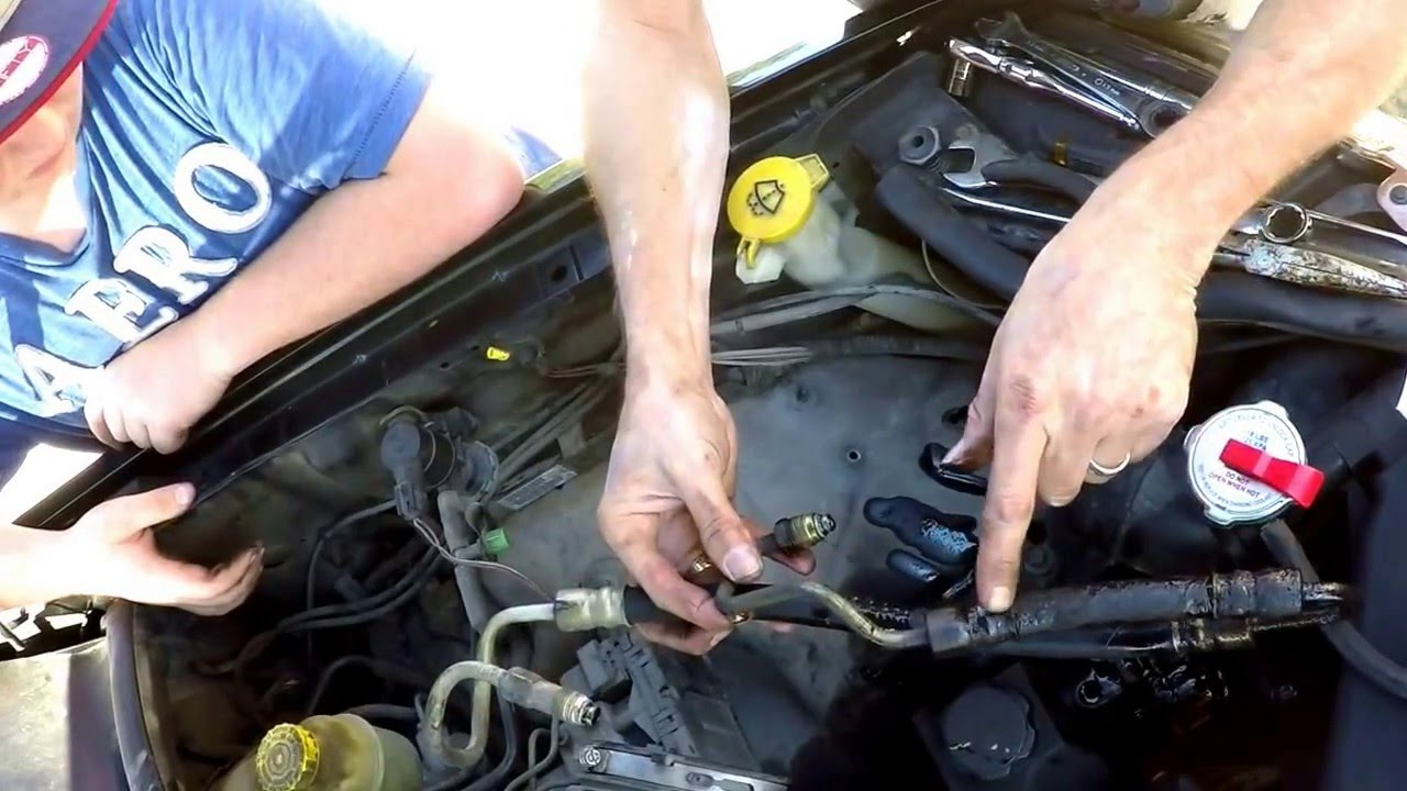 small resolution of power steering hose replacement 2003 jeep grand cherokee 4 0l youtube