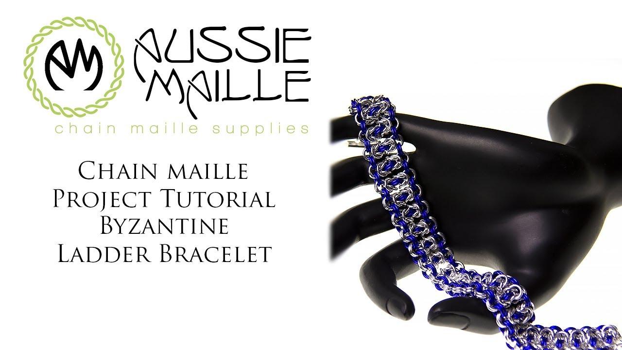 Chain Maille Tutorial - Byzantine Ladder Bracelet