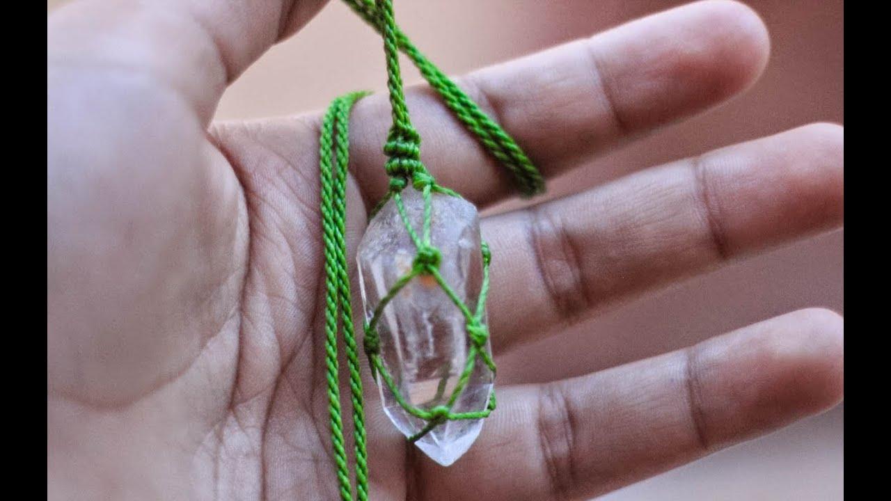 gran selección de 61436 165c6 tutorial piedra engarzada en macramé wrap stone macramé