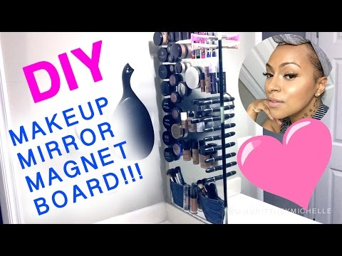 DIY Makeup Mirror Magnet Board