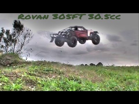 SCZ Racing E290 29.5cc Reed Engine first start in 1/5 Rovan baja 305ft