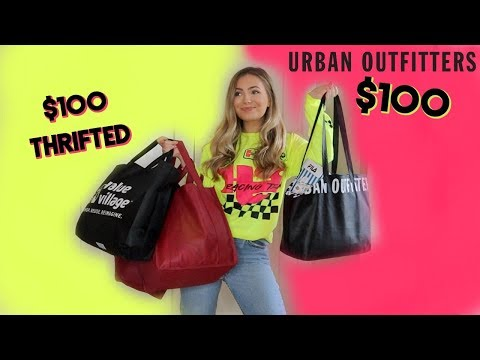 $100 thrift haul VS $100 @ Urban Outfitters (you won't believe it)