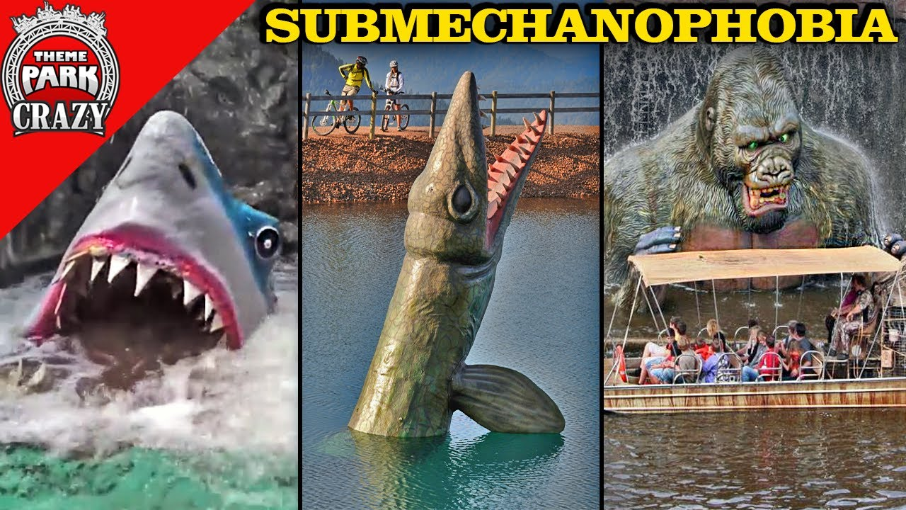 Top 10 TERRIFYING Underwater Animatronics - SUBMECHANOPHOBIA