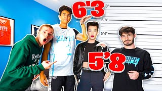 GUESS THE YOUTUBERS HEIGHT w/ 2HYPE