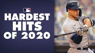 MLB's Hardest Hits of 2020! (These baseballs were SMASHED!)
