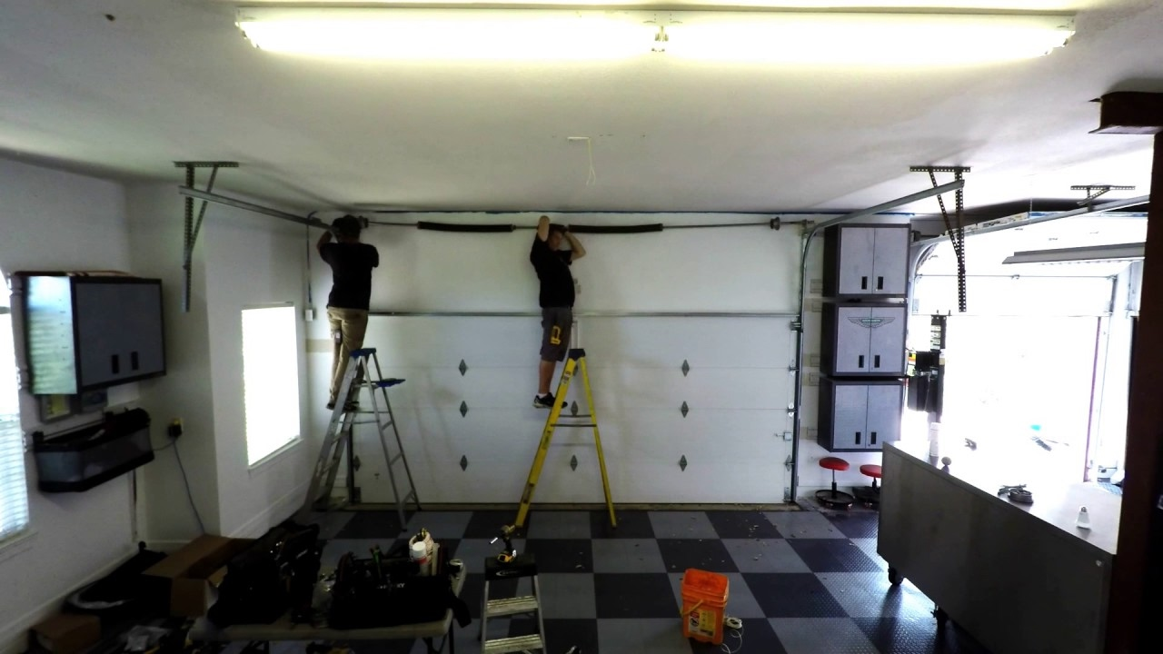 Garage Door High Lifted Tracking with a Lift Master Side