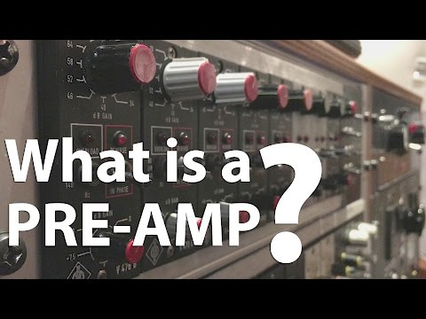 What is a pre-amp?