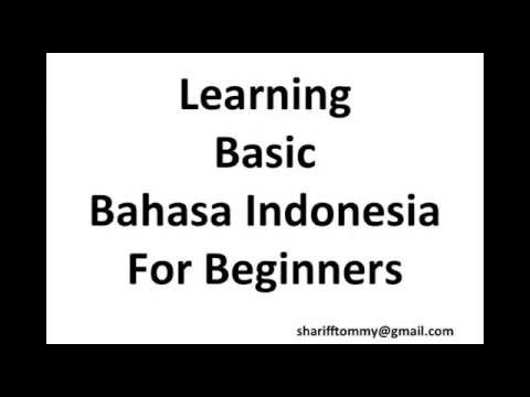 Learning Basic Bahasa Indonesia for Beginners part 01