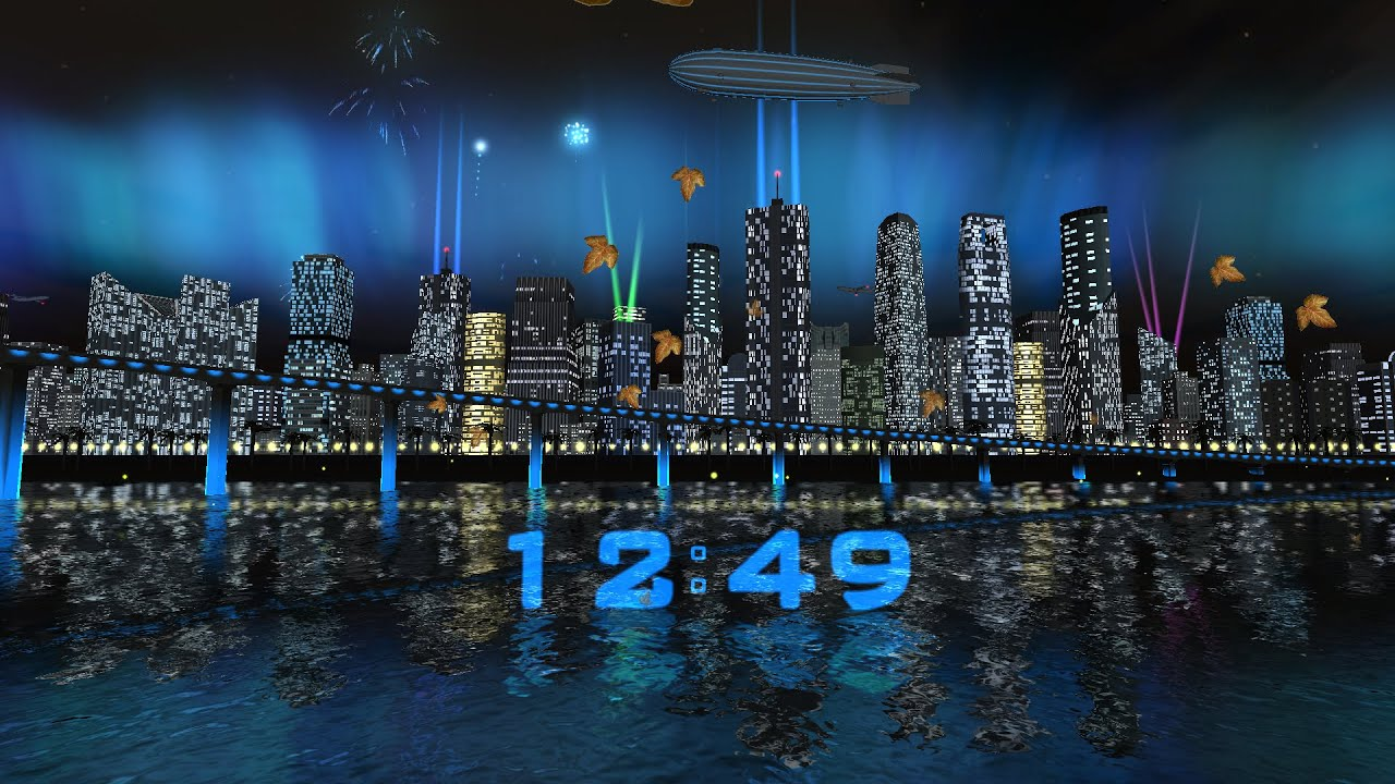 Day Night City Fireworks LWP (v.1.0.3) - Live wallpaper by Exacron Full HD(1080p) - YouTube