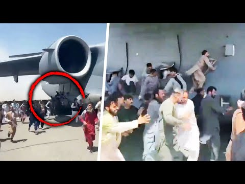 Afghans Cling to Outside of American Plane Leaving Kabul