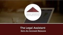 Zero an Account Balance