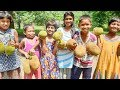 """10 Pieces Jackfruit Cooking """"Kathal Masala Curry"""" For Entire Village People Video in 4k ultra Hd"""