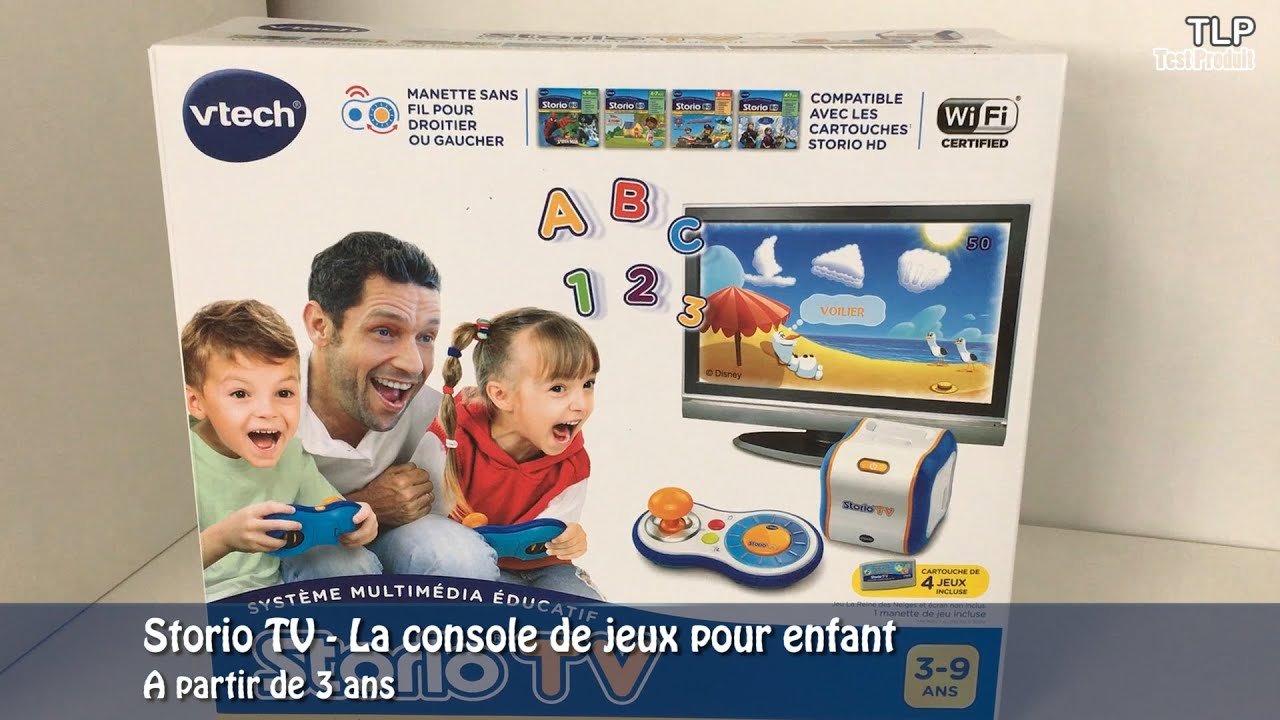 vtech storio tv disney pixar aventures demo en francais