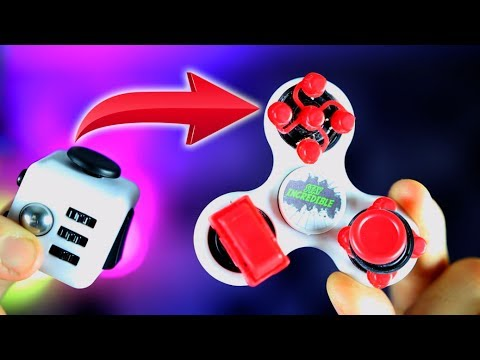 How To Turn A FIDGET CUBE And SPINNER INTO 2 IN 1