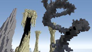 minecraft Создание гор и островов кистями WorldEdit