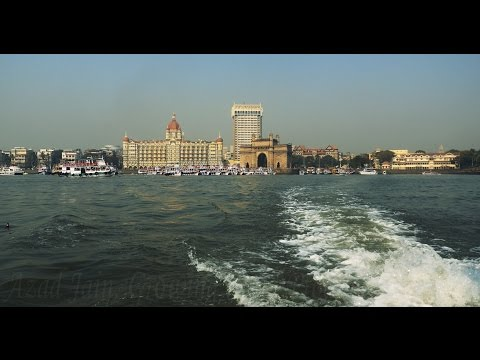 Gateway of India,Taj Hotel,Trident Mumbai 4k HD Video.Boat Ride.Arabian Sea.Maharashtra.मुम्बई