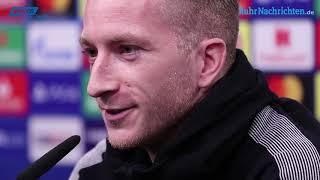 Pressekonferenz vor dem UCL-Spiel gegen Atlético Madrid mit Lucien Favre & Marco Reus