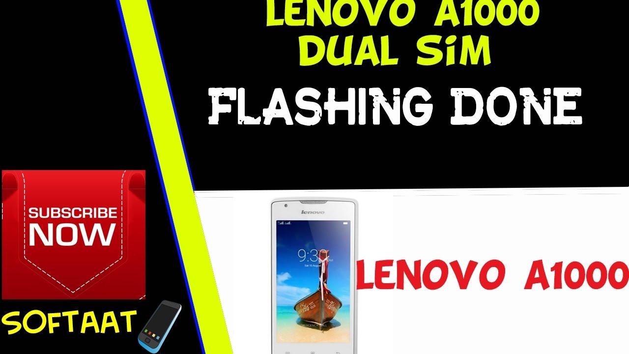 lenovo A1000 Dual sim flashing Done ( A1000 تفليش هاتف لينوفو )
