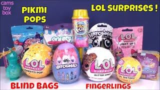 LOL Surprise Confetti GLitter Blind Bags Pikmi POP Disney Fingerlings Toys LIL Sisters Unboxing