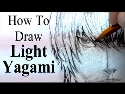 How To Draw Light Yagami From Death Note Youtube