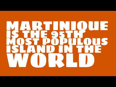 How many people live on the island of Martinique?