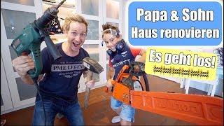 Unser Haus 🏠 renovieren! Vater & Sohn Männertag | Mama neue Haare | Doppel VLOG | Mamiseelen