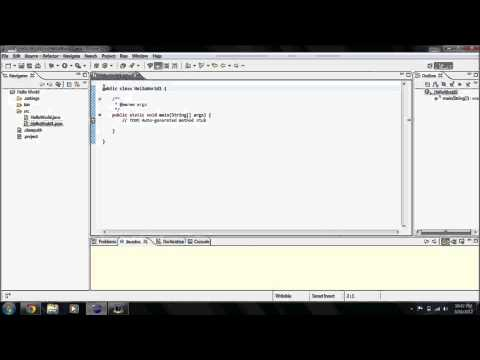 How to make a Hello World program in Java Eclipse