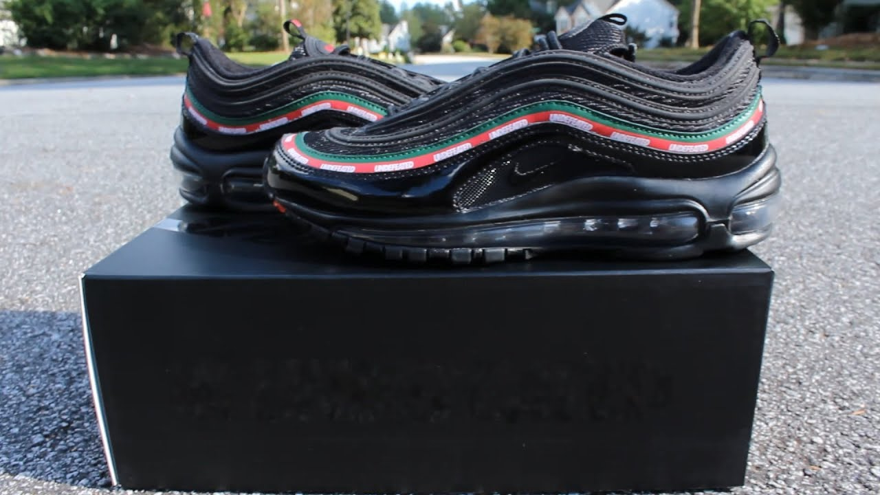 reputable site 58fc2 7ea7a UNDEFEATED x NIKE AIR MAX 97 BLACK REVIEW! (Gucci Nike Undefeated)