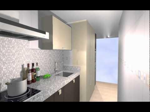 Estudio cocina para apartamento en la manga murcia for Cocinas pequenas para apartamentos tipo estudio
