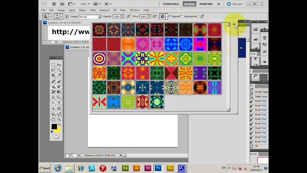 How To Install Load Photo Pattern Pat Files Cc 2019 2018 2017 Cs6 Cs5 Etc Tutorial