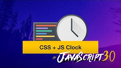 We build a CSS + JS Clock in Vanilla JS — #JavaScript30 2/30