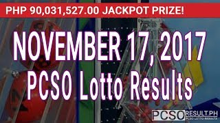 PCSO Lotto Results Today November 17, 2017 (6/58, 6/45, 4D, Swertres & EZ2)