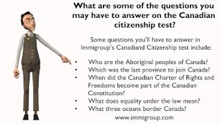 What are some of the questions you may have to answer on the Canadian citizenship test?